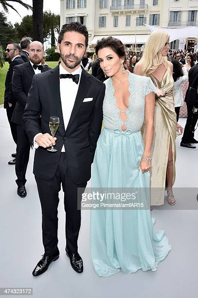 Jose Antonio Baston and actress Eva Longoria attend amfAR's 22nd Cinema Against AIDS Gala Presented By Bold Films And Harry Winston at Hotel du...