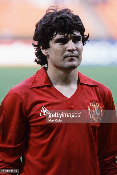 Jose Antonio Camacho during the Football European Championship between Romania and Spain at Stade Geoffroy Guichard SaintEtienne France on 14 June...
