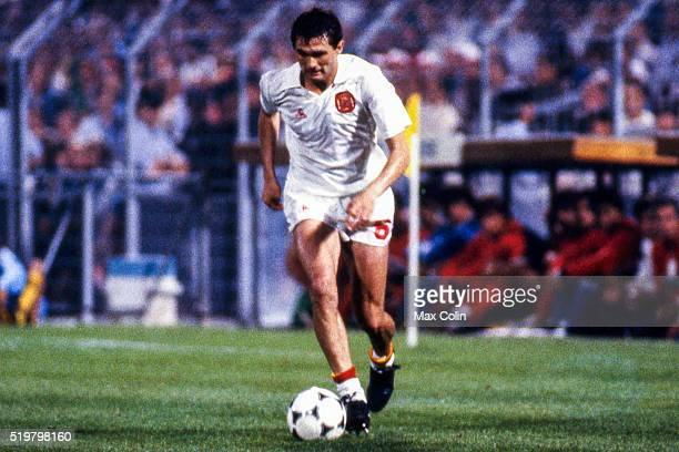 Jose Antonio Camacho of Spain during the Football European Championship between Portugal and Spain Marseille France on 17 June 1984