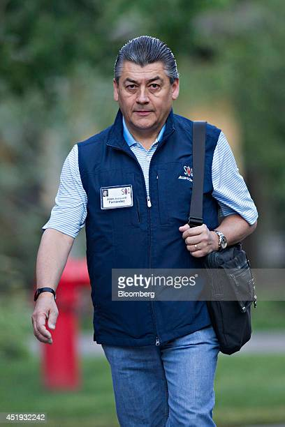 Jose Antonio Fernandez Carbajal chairman of CocaCola Femsa SA arrives for a morning session during the Allen Co Media and Technology Conference in...