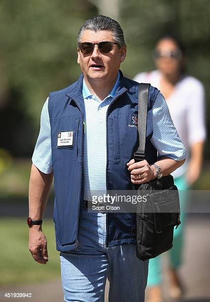 Jose Antonio Fernandez Carbajal chairman of CocaCola Femsa SA attends the Allen Company Sun Valley Conference on July 9 2014 in Sun Valley Idaho Many...