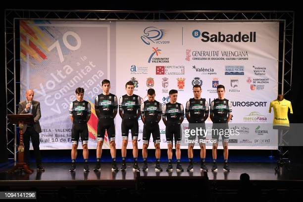 Jose Antonio Garcia Martin of Spain and Kometa Cycling Team / Diego Pablo Sevilla of Spain and Kometa Cycling Team / Juan Camacho Del Fresno of Spain...