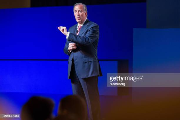 Jose Antonio Meade presidential candidate of the Institutional Revolutionary Party speaks during the BBVA Bancomer SA national meeting of regional...