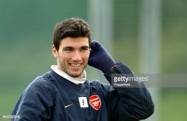 Jose Antonio Reyes of Arsenal during a training session at London Colney on March 9 2004