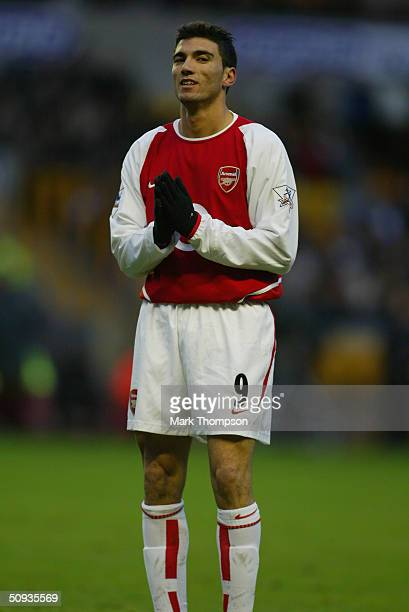 Jose Antonio Reyes of Arsenal during the FA Barclaycard Premiership match between Wolverhampton Wanderers and Arsenal at Molineux on February 7, 2004...