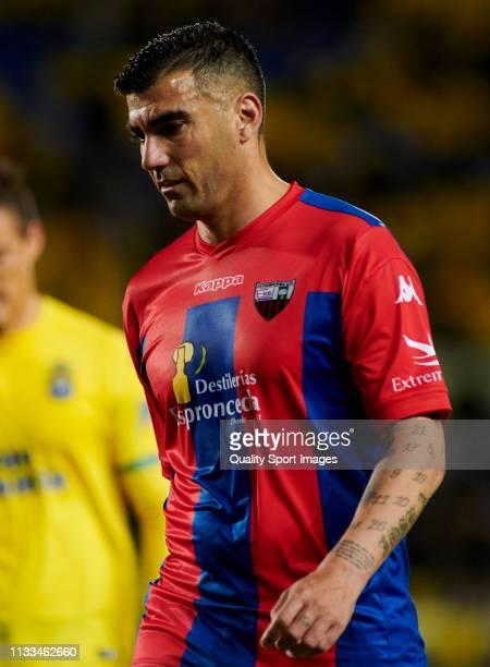 Jose Antonio Reyes of Extremadura during the La Liga 123 match between Las Palmas and Extremadura at Estadio Gran Canaria on March 03, 2019 in Las...
