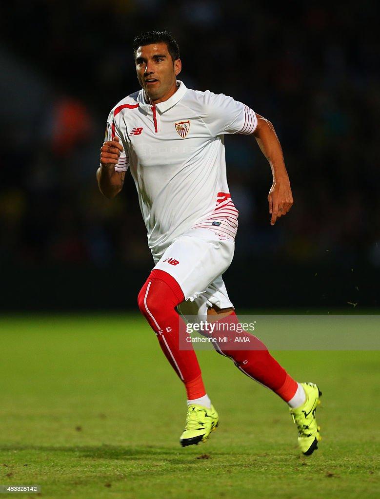 Jose Antonio Reyes of Sevilla during the pre-season friendly between Watford and Seville at Vicarage Road on July 31, 2015 in Watford, England.