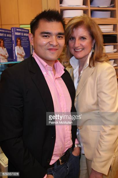 Jose Antonio Vargas and Arianna Huffington attend DOMENICO VACCA Hosts a Book Signing for ARIANNA HUFFINGTON and the Publication of Her New Book...