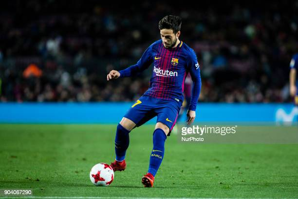 Jose Arnaiz from Spain of FC Barcelona celebrating the victory during the Copa del Rey match between FC Barcelona v Celta de Vigo at Camp Nou Stadium...