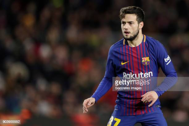 Jose Arnaiz of FC Barcelona during the Spanish Copa del Rey match between FC Barcelona v Celta de Vigo at the Camp Nou on January 11 2018 in...