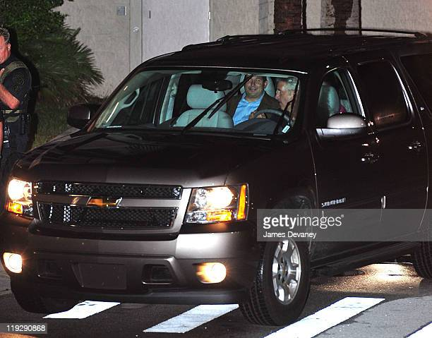 Jose Baez and Casey Anthony leave the Orange County Jail after her midnight release on July 17 2011 in Orlando Florida