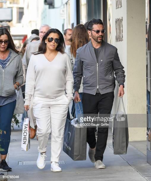 Jose Baston and Eva Longoria are seen on February 10 2018 in Los Angeles California