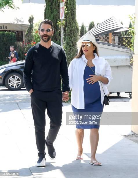 Jose Baston and Eva Longoria are seen on June 07 2018 in Los Angeles California