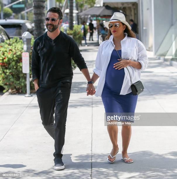 Jose Baston and Eva Longoria are seen on June 7 2018 in Los Angeles CA