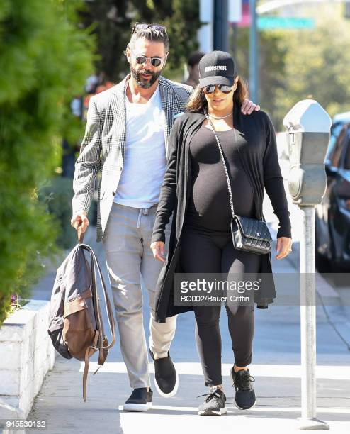 Jose Baston and Eva Longoria is seen on April 12 2018 in Los Angeles California