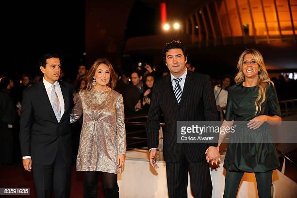 Jose Bazaco Mariam Camino Rafa Camino and Natalia Alvarez attend the Quantum of Solace premiere at the Palau de las Arts on November 06 2008 in...