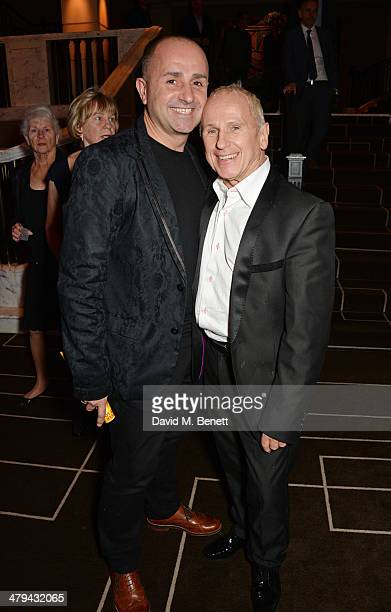 Jose Bergera and Wayne Sleep attend an after party celebrating the press night performance of 'Blithe Spirit' at the Rosewood Hotel on March 18 2014...