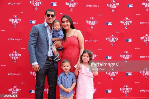 Jose Berrios of the Minnesota Twins and guests attend the 89th MLB AllStar Game presented by MasterCard red carpet at Nationals Park on July 17 2018...
