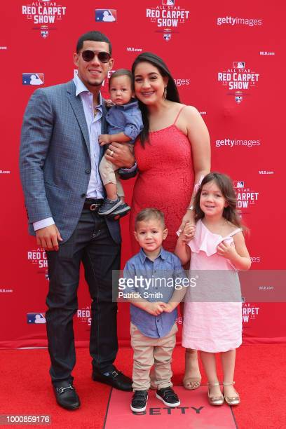 Jose Berrios of the Minnesota Twins and the American League attends the 89th MLB AllStar Game presented by MasterCard red carpet with guests at...