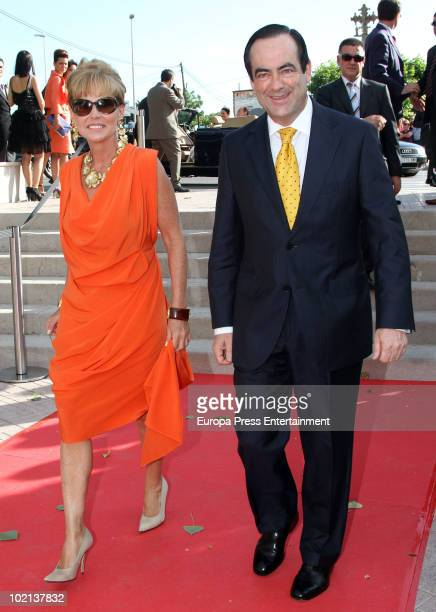 Jose Bono and Ana Rodriguez attend the wedding of Manuel Colonques, son of the president of Porcelanosa company, and Cristina Babiloni on June 11,...