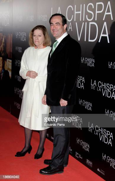 Jose Bono and Natalia Figueroa attends 'The spark of life' premiere at Callao cinema on January 12 2012 in Madrid Spain