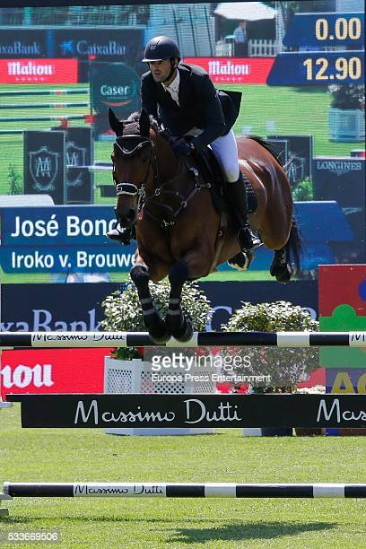 Jose Bono Rodriguez attends the Global Champions Tour show jumping tournament on May 22 2016 in Madrid Spain