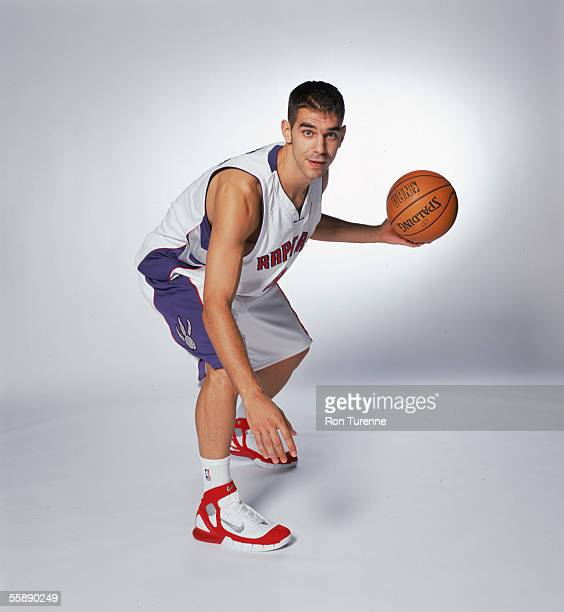 Jose Calderon of the Toronto Raptors poses for a portrait during NBA Media Day on October 3 2005 at the Air Canada Centre in Toronto Canada NOTE TO...