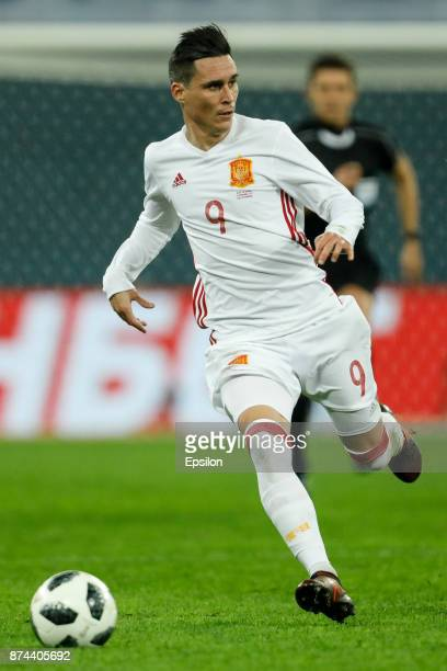 Jose Callejon of Spain during Russia and Spain International friendly match on November 14 2017 at Saint Petersburg Stadium in Saint Petersburg Russia