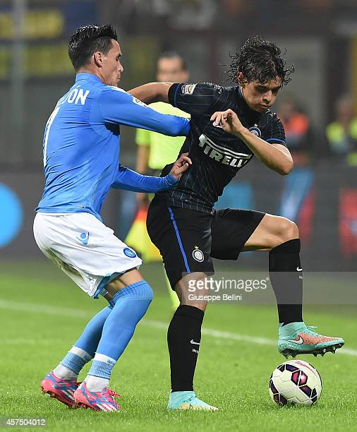 Jose Callejon of SSC Napoli and Dodo' of FC Internazionale Milano in action during the Serie A match between FC Internazionale Milano and SSC Napoli...