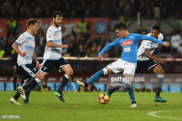 Jose Callejon of SSC Napoli during the Serie A Tim match between SSC Napoli and SS Lazio at Stadio San Paolo Naples Italy on 5 November 2016