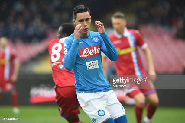 Jose Callejon of SSC Napoli during the Serie A TIM match between SSC Napoli and Spal at Stadio San Paolo Naples Italy on 18 February 2018