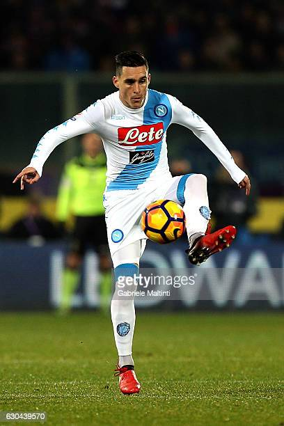 Jose' Callejon of SSC Napoli in action during the Serie A match between ACF Fiorentina and SSC Napoli at Stadio Artemio Franchi on December 22 2016...