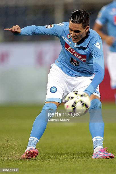 Jose' Callejon of SSC Napoli in action during the Serie A match between Genoa CFC and SSC Napoli at Stadio Luigi Ferraris on August 31 2014 in Genoa...