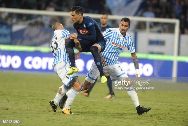 Jose Callejon of SSC Napoli in action during the Serie A match between Spal and SSC Napoli at Stadio Paolo Mazza on September 23 2017 in Ferrara Italy