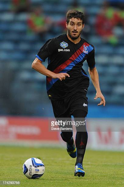 Jose Campana of Crystal Palace in action during the pre season friendly match between Gillingham and Crystal Palace at Priestfield Stadium on July 23...