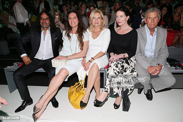 Jose Campos Christine Neubauer Sabine Postel Gudrun Landgrebe and Ulrich von Nathusius attend the Minx by Eva Lutz show during the MercedesBenz...