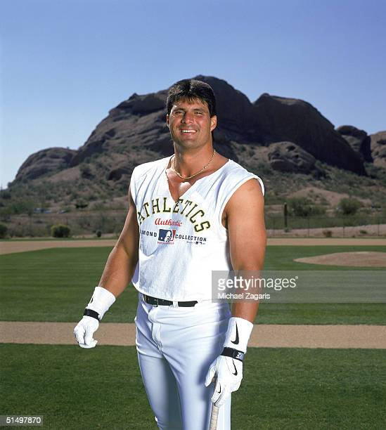Jose Canseco of the Oakland Athletics poses for a portrait in 1997