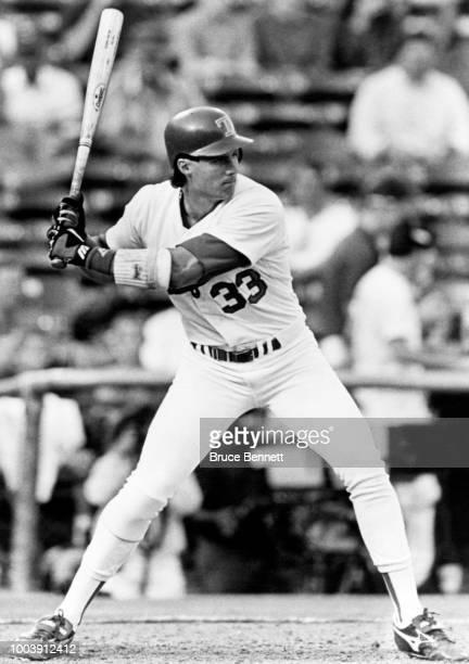 Jose Canseco of the Texas Rangers bats during an MLB game circa 1993 at Arlington Stadium in Arlington Texas