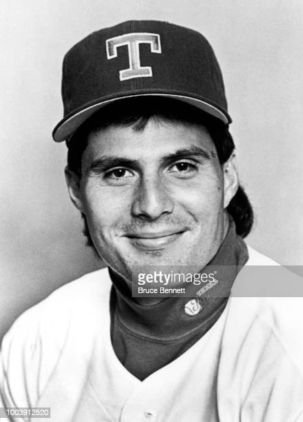 Jose Canseco of the Texas Rangers poses for a portrait during MLB Spring Training circa March 1993 at Charlotte Sports Park in Port Charlotte Florida