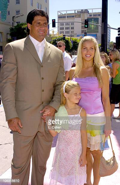 Jose Canseco with wife Jessica Canseco and daughter Josie Canseco
