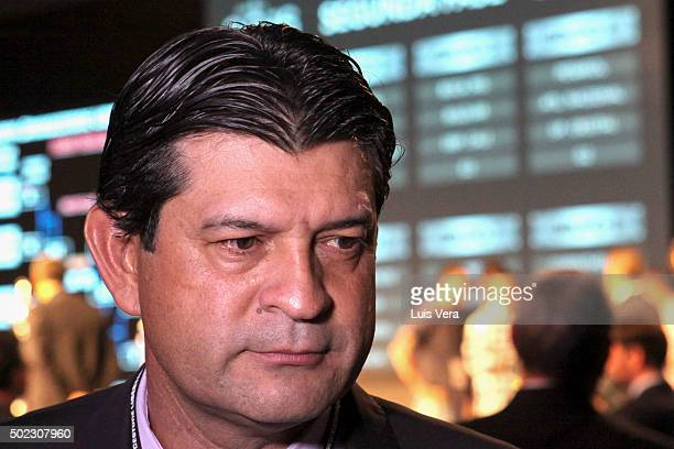 Jose Cardozo coach of Club Toluca of Mexico talk to the media after the Copa Libertadores 2015 Draw at CONMEBOL Convention Center on December 22 2015...