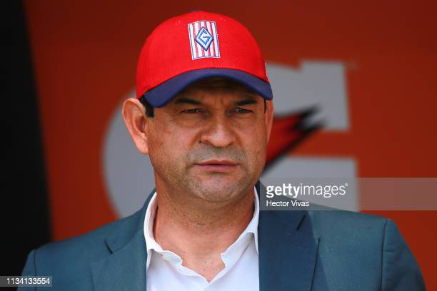 Jose Cardozo Head Coach of Chivas looks on during the 12th round match between Pumas UNAM and Chivas as part of the Torneo Clausura 2019 Liga MX at...