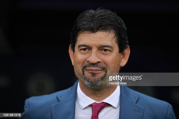 Jose Cardozo, Head Coach of Chivas looks on during the 2nd round match between Cruz Azul and Chivas as part of the Torneo Clausura 2019 Liga MX at...