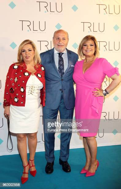 Jose Carlos Bernal and Carmen Borrego attend the presentation of the launching of Terelu Campos's first jewellry collection 'TRLU' on May 23 2018 in...