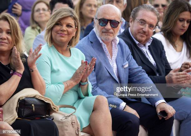 Jose Carlos Bernal and Terelu Campos attend the presentation of her first jewellry collection 'TRLU' on June 15 2018 in Malaga Spain