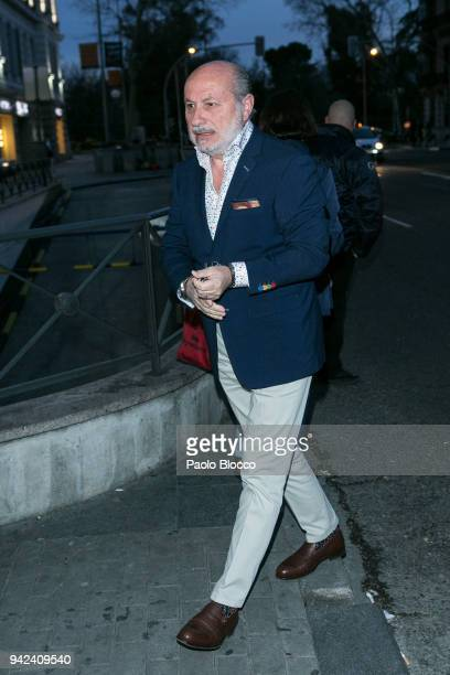 Jose Carlos Bernal arrives at the Alejandra Rubio 18th birthday party at Gabana Club on April 5 2018 in Madrid Spain