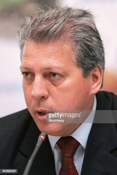 Jose Carlos Grubisich chief executive officer of Braskem SA speaks during a news conference in Sao Paulo Brazil on Wednesday Feb 20 2008 Braskem SA...