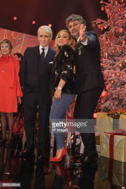 Jose Carreras Anastacia and Jonas Kaufmann attend the 23th Annual Jose Carreras Gala on December 14 2017 in Munich Germany