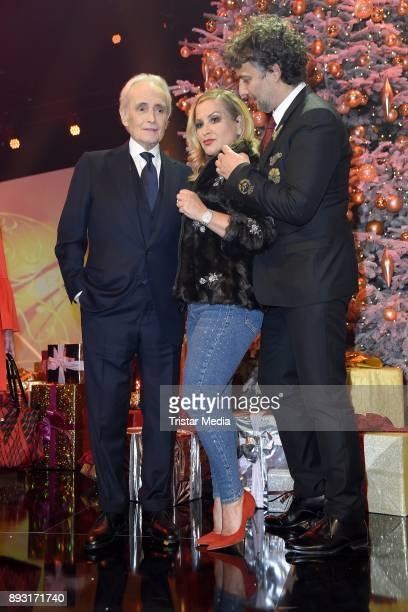 Jose Carreras Anastacia Lyn Newkirk and Jonas Kaufmann attend the 23th Annual Jose Carreras Gala on December 14 2017 in Munich Germany
