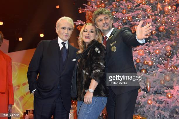 Jose Carreras Anastacia Lyn Newkirk and Jonas Kaufmann attend the 23th Annual Jose Carreras Gala on December 14 2017 in Munich Germany